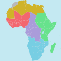 Regions of the African Union