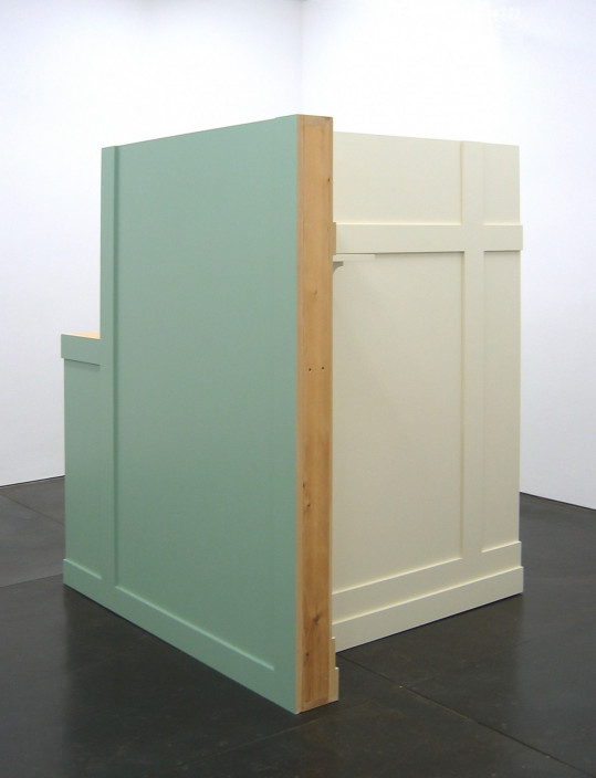 Francis Cape, Untitled, 2005. Wood with applied paint. 67 x 55 x 49 in. Courtesy of the artist.