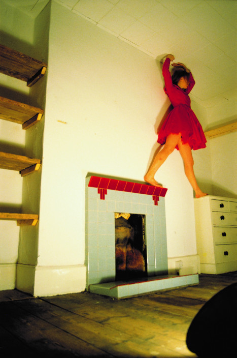 Lucy Gunning, Climbing Around My Room, 1993. Video. 7:30 minutes. Courtesy of the artist and Greene Naftali, NY.