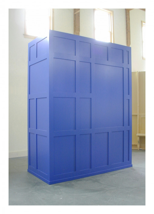Francis Cape, Ama, 2003. Wood with applied paint. 96 x 79 x 38 in. Courtesy of the artist.