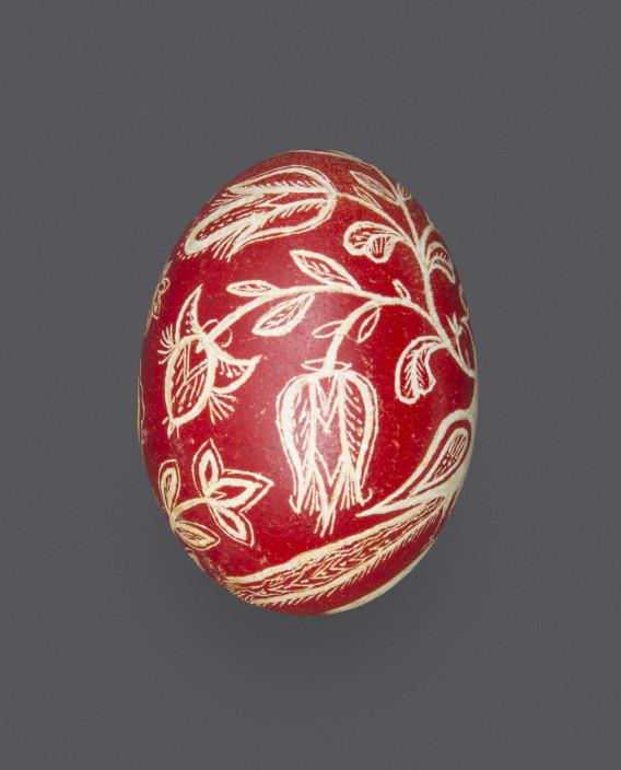 Unknown, Decorated Egg, 1901. Chicken egg and natural dyes. Acquired from the Pennsylvania Folklife Society.