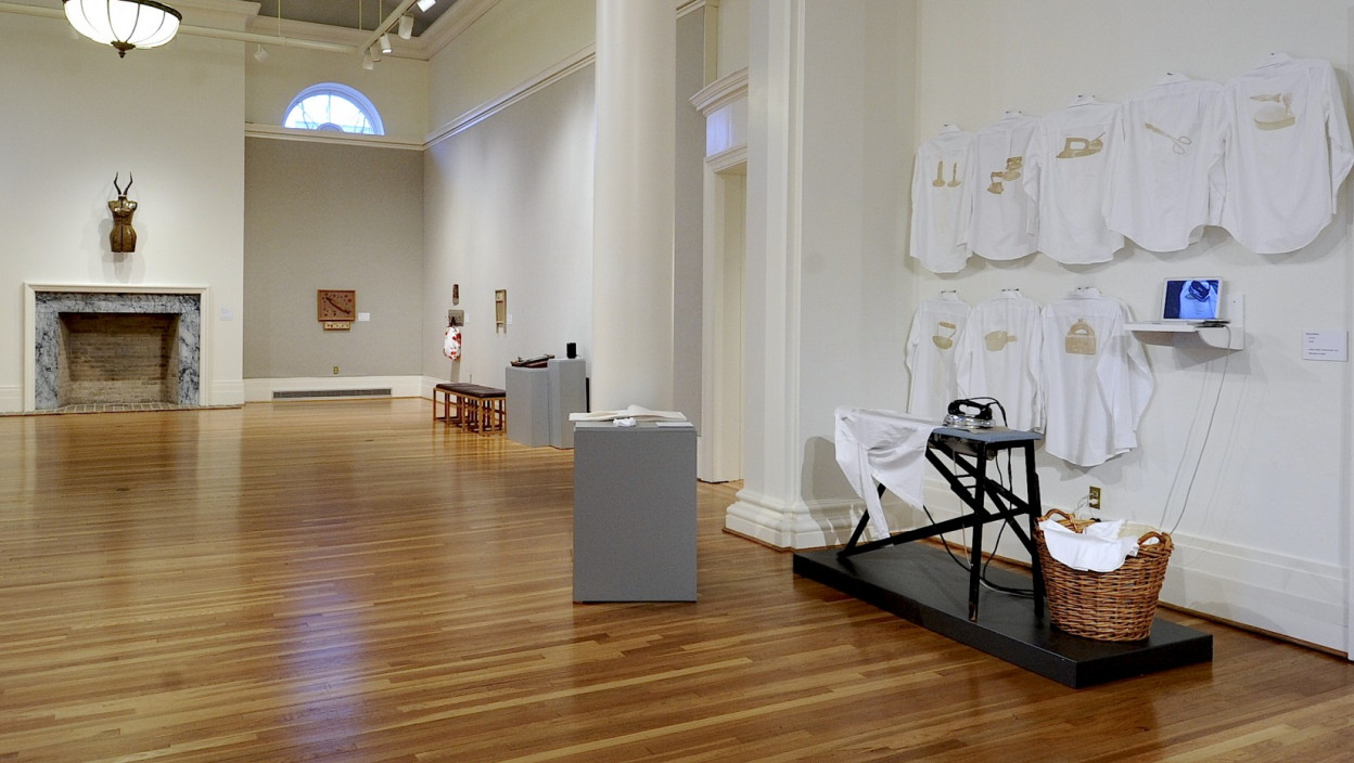Installation view.  Reimagining the Distaff Toolkit.  January 24, 2012 – April 1, 2012.