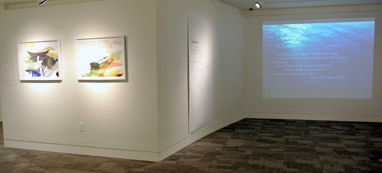 Installation view.  Diary of the One Swelling Sea.  March 21, 2014 – May 16, 2014.