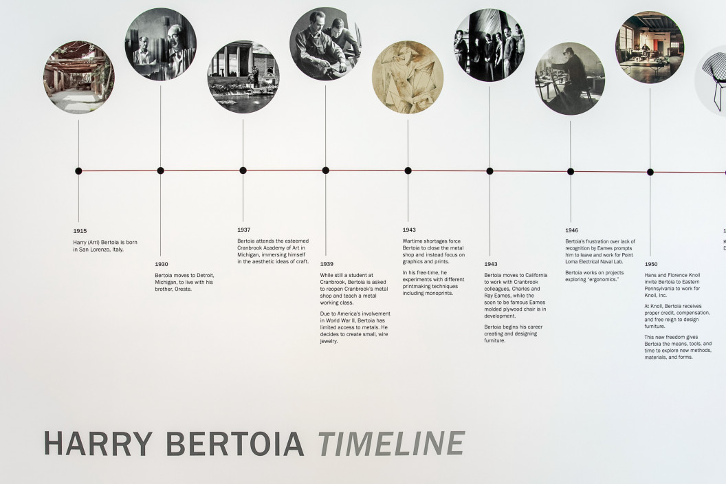 Timeline Part 1 of Harry Bertoia's life and careerWatch a video lecture on Bertoia by daughter Celia Bertoia