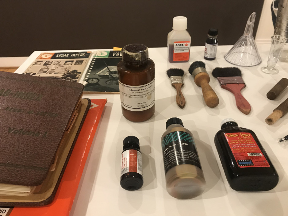 Materials and tools significant to Chuck Kelton's practice