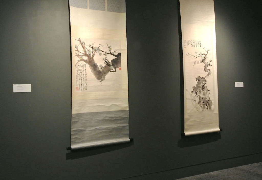 Installation view.  Deena Gu, Early Work, Early Scrolls