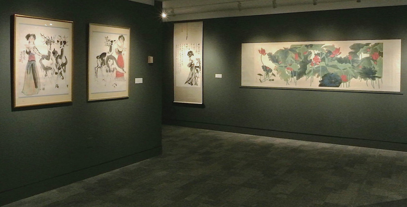 Installation view.  Deena Gu, Early Work, Early Scrolls.