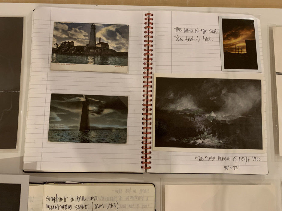 Chuck Kelton's notebooks used in the process of creating his photographs