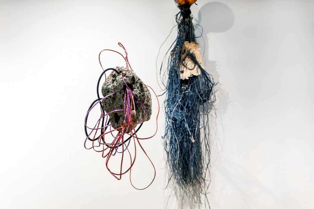 Sarah Marchione, Untitled, 2021. Found objects. 45 x 50 inches.