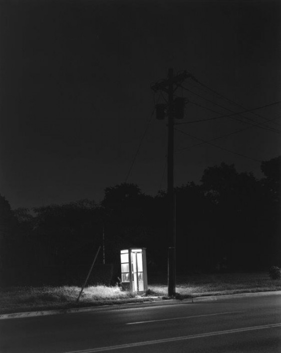 George Tice, Telephone Booth, 3 a.m., Rahway, NJ, 1974. Platinum Print. 20 x 24 in.