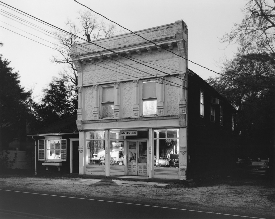 George Tice, Locust Antiques, Locust, NJ, 2010. Silver Print. 11 x 14 in.