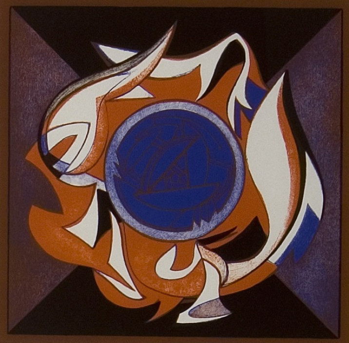 Françoise Gilot. Fire Rose, 1977. Chromolithograph on paper.