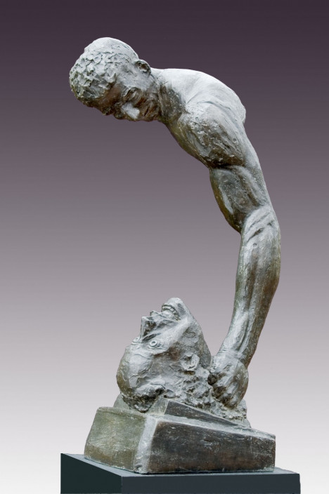 George Anthonisen. Murder/Cain and Abel, 1975-1977. Bronze.