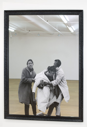 Hank Willis Thomas, Amelia Falling, 2014. Glass mirror and silver, 60 x 48 inches. Courtesy of th...