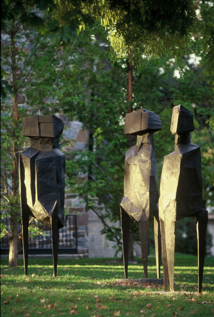 Lynn Chadwick.  <em>The Watchers</em>, 1960.  Bronze.