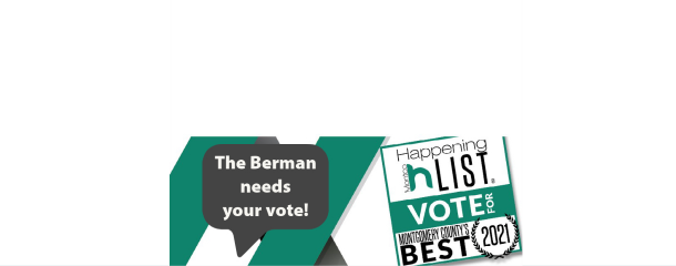 The Berman needs your vote! Vote for Montgomery County's best museum for 2021