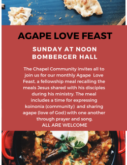 Chapel Agape Meal
