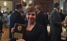 Eliana at the 2015 Pan American Association of Philadelphia Annual Scholarship Luncheon held at the Union League of Philad...