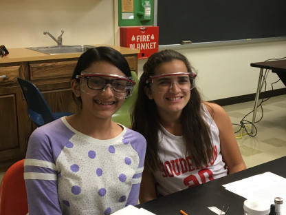 Middle School Students enjoying a Science In Motion lesson.