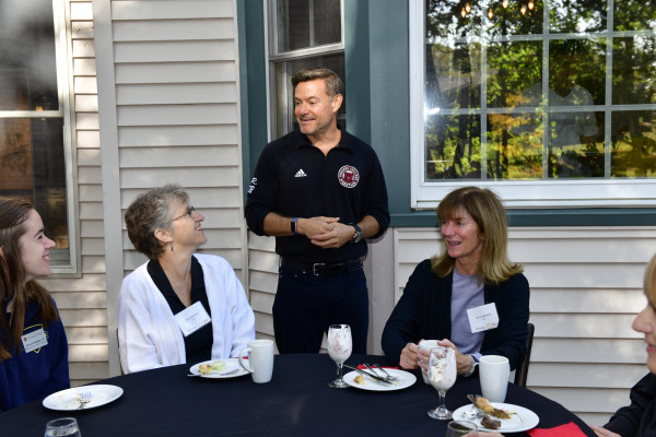 Parent Donor Breakfast at the President's house.