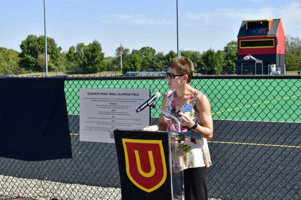 Snell Field Turf Dedication.