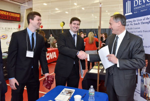 Ursinus students attend the 2016 Job, Internship and Networking Fair.