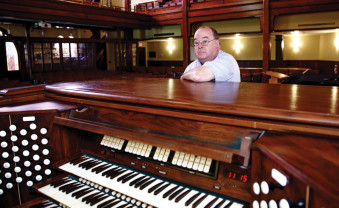 John French with the Heefner Memorial Organ