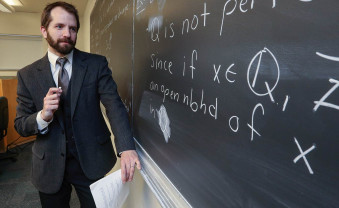 Nick Scoville, Chair and Assistant Professor of Mathematics and Computer Science