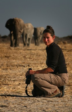 Caitlin O'Connell in Africa