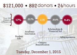 Infographic for Ursinus Day of Giving