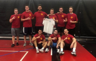 Photo of the 2019 Intramural Soccer Champion team