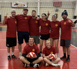 Photo of the 2019 Intramural Volleyball Champion team