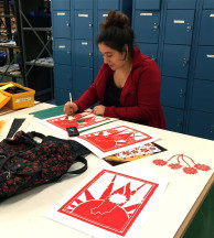 Printmaking in Ritter Studios