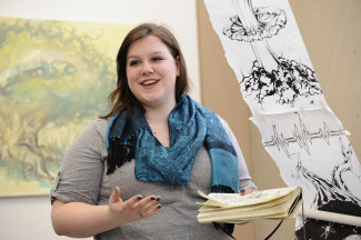 Elizabeth Zeller at the Student Art Show