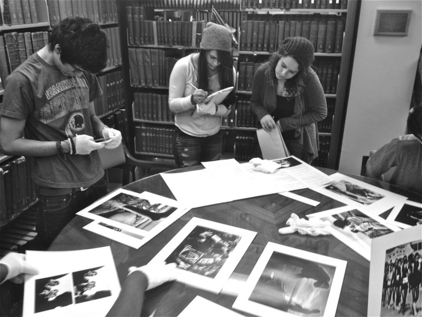 Art & Art History Students doing research