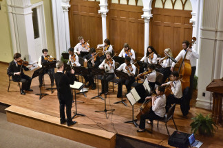 Overhead View of Chamber Orchestra