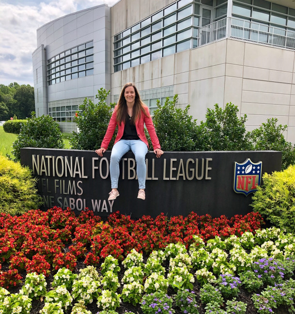 Katie Morello at NFLFilms headquarters