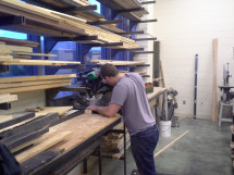 Lucas at the miter saw