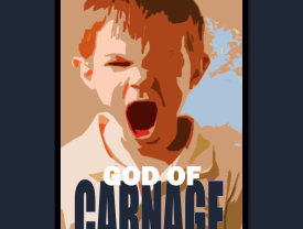 Advertisement for the 'God of Carnage' performance