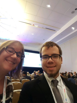 Dr. Roberts and Dominic Cohen ('19) present at the Life Sciences Future conference in Philadelphia.