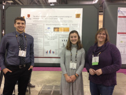 Jake Lachowicz ('19) and Emma Frees ('18) with their research mentor, Dr. Rebecca Roberts.