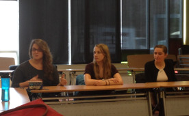 Seniors shared their experiences of successful admissions to graduate schools and medical schools at a recent Biology Depa...