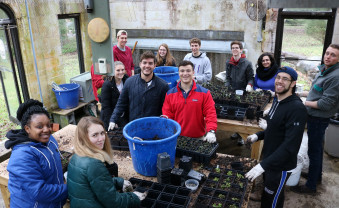 Plant Biology (BIO/ENV-334) students at the Perkiomen Watershed Conservancy
