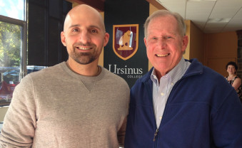 Dr. Angelo Lepore ('00) and his former research mentor at Ursinus, Dr. Jim Sidie.