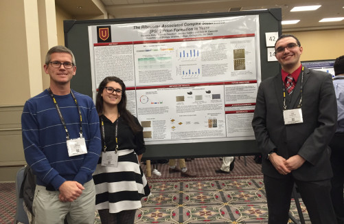 Jessica Taddeo ('19) and Thomas Tessitore ('18) with their research mentor, Dr. Dale Cameron