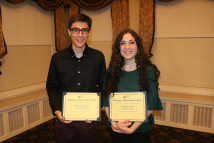 Michael Esposito and Courtney DelPo receive ACS award at Awards Dinner