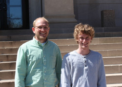 Prof. Wagner with research student, Casey Williams at the 80th ISCC