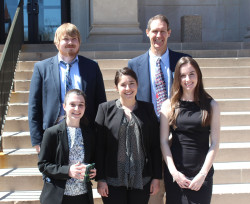 Prof. Ellison with research students Katie, Madison, Laura, and Sam at the 80th ISCC