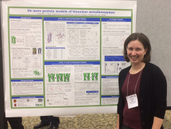 Amanda Reig presenting research poster at MARM 2017