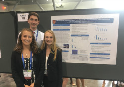 Nöel McCampbell, Audrey Simpson and Jordan Carver present poster at 2018 ACS Meeting